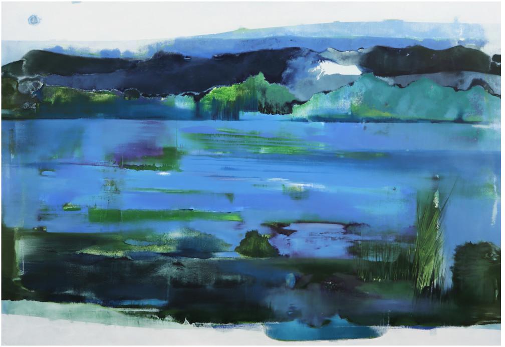 Elisabetta Vignato, la potenza delle origini, 2014, olio su tela, 260x180 cm