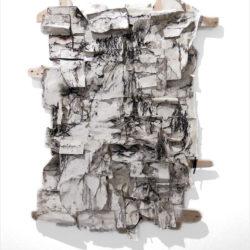 Daniele Girardi, Sketch wild book 02, 2017, tecnica mista su carta e legno,90 x130 cm
