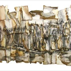 Daniele Girardi, Forest, 2015, carta legno grafite  134 x 90 x 11 cm
