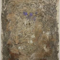 Quando ce n'è tre è notte, 1969, paglia, colla e olio su tela, 80 x 65 cm