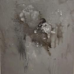 Dalla serie Gesto e materia, 1958, olio su tela, 100 x 80 cm