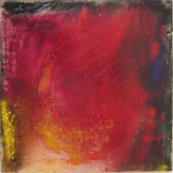 S.T., 1969, colori in polvere su tela, 110 x 110 cm