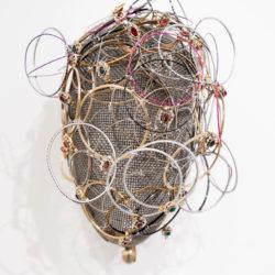 Andrea Bianconi, Face 3, 2017, tecnica mista su maschera