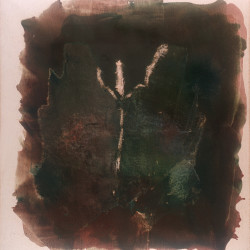 Dalla serie Gesto e materia, 1976, polimaterico su tela, 160 x 140 cm