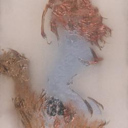 Della serie Gesto e materia, 1970, polimaterico su tela, 120 x 90 cm