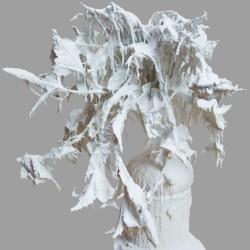 Andrea Bianconi, Love Story, 2013, fiori, ceramica, cemento, colla, smalto bianco