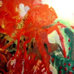 Daniele Girardi, Chromocosmo, 2005, tecnica mista su tela, 190x140 cm