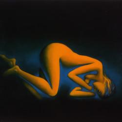Sirena, 2001, olio su tela, 150 x 200 cm