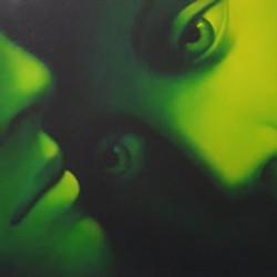 Amanti, 2005, olio su tela, 60 x 150 cm