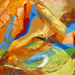 Paesaggio di Violetta, 2006, olio su tela digitale, cm 125 x 163
