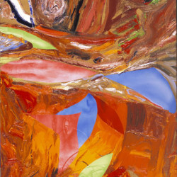 Pittura nuda nel paesaggio, 2006, olio su tela organica, cm 50 x 40