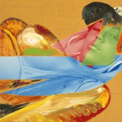 Pittura oggetto, 2006, olio su tela digitale, cm 45 x 45