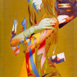 Rigenerazione, 2007, olio su tela digitale, cm 165 x 110