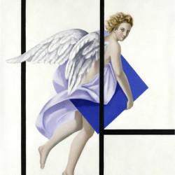 Geometrie angeliche, 2008, olio su lino, 140x100 cm