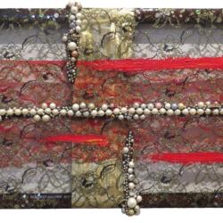 Arch Connelly, Hot Cake, 1987, tecnica mista su tessuto, 24x35 cm