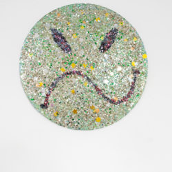 Arch Connelly, Japanese Happy Face, 1987, tecnica mista su tela, Ø 61,5 cm
