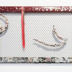 Arch Connelly, Hot, 1987, tecnica mista su tessuto e collage, 41x61 cm