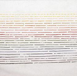 Philip Corner, Rainbow Rhythmic Polyphony, 1985, acrilico su tela