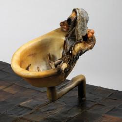 Silvano Tessarollo, Interno/5, particolare, 2007, cartone, resina, cera, colori industriali, stracci, 168x110x51 cm