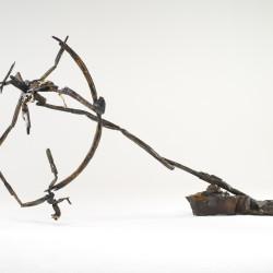 Silvano Tessarollo, Dies Irae, 2007, cera, ferro, spago, cartone e smalti industriali, 140x310x170 cm