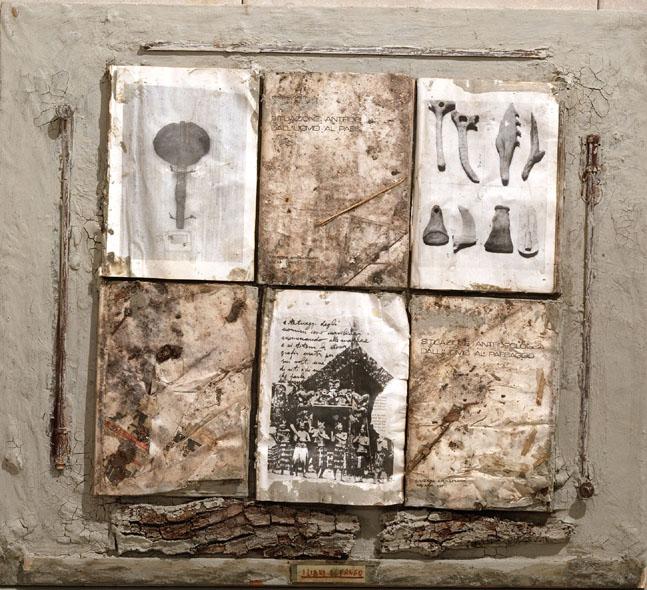 Claudio Costa, I libri di fango,  1979 ,cm 80x88
