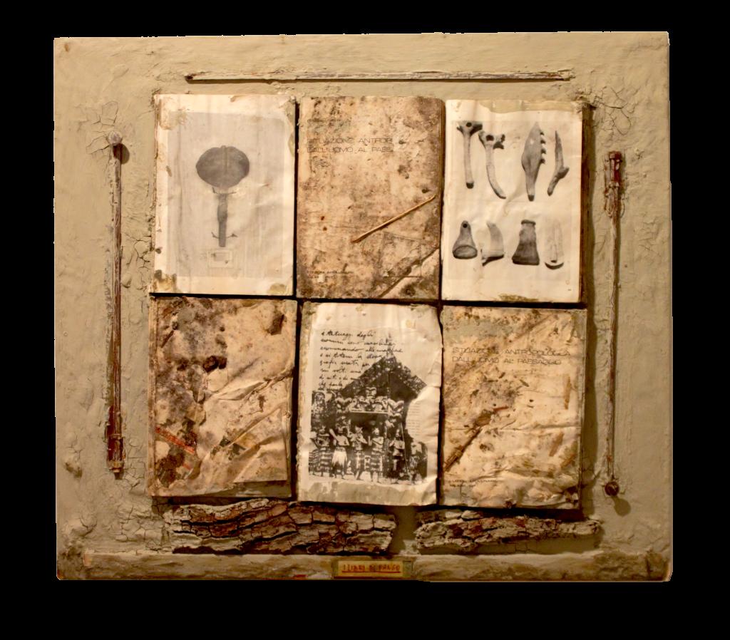 Claudio Costa, I Libri Di Fango, polimaterico, 80x88 cm, 1979