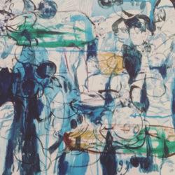 Untitled, 2018, acrilico su tela, 45 x 55 cm