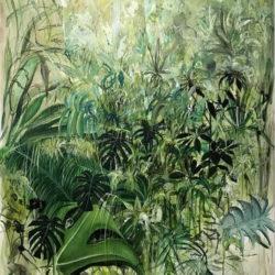 Antonio Bardino, Selva, 2018, olio su tela, 115 x 135 cm