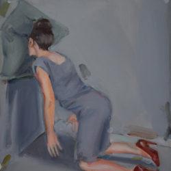 Apnea, 2018, acrilico su tela, cm 40x30