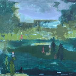 Greta Pllana, Losca fu la sterpaglia, 150 x 120 cm, olio e collage su tela, 2017 (FILEminimizer)