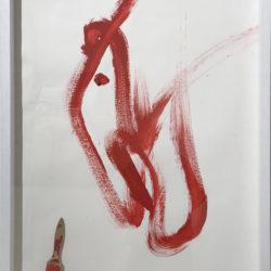 J. Blaine, CH'I, 1995, acrilico su carta + pennarello, 72 x 101 cm