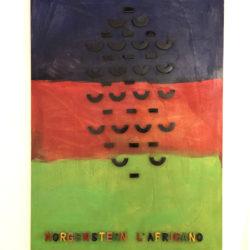 Sarenco, MORGENSTERN L'AFRICANO, 1993 acrilico su tavola, 200 x 140 cm