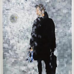 Crossings 4, 2019, acrilico su tela, 150 x 100 cm