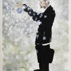 Crossings 8, 2019, acrilico su tela, 150 x 100 cm