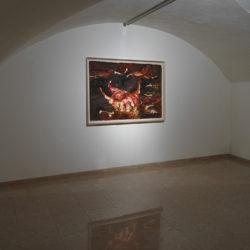 Silvano Tessarollo, Studio per interno 1, 2005, cm 153x103, cera e colori ad olio
