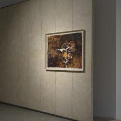 Silvano Tessarollo, Studio per interno 5, 2005, cm 103x80,5, cera e colori ad olio