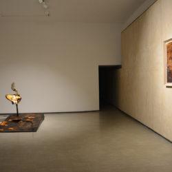 Silvano Tessarollo, Prima che il gallo canti, 2020, veduta dell'installazione (prima sala), La Giarina Arte Contemporanea