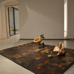Silvano Tessarollo, Prima che il gallo canti, 2020, veduta dell'installazione (seconda sala), La Giarina Arte Contemporanea