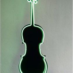 Charlotte Moorman, Neon Cello, 1989